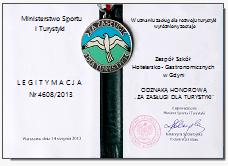 ZSHG - Szkoła odznaczona przez Ministra Sportu i Turystyki
